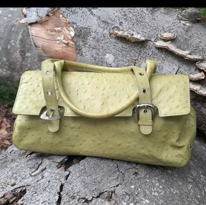 Talbots Green Leather hand bag